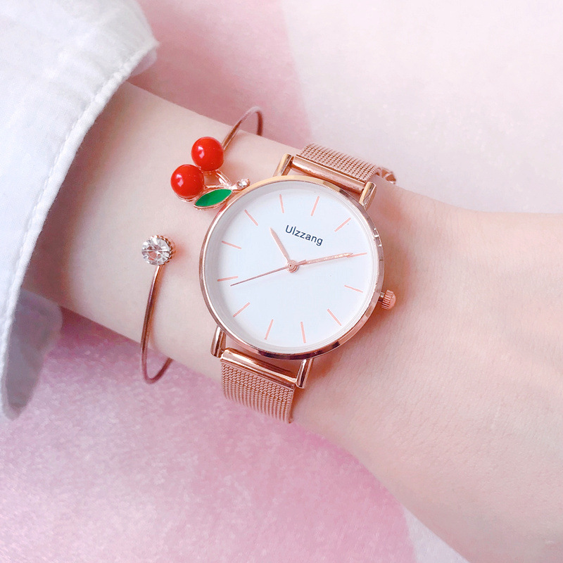 Minimaliste Women Watches Ulzzang Luxury Fashion Brand Ladies Wristwatches With Rose Gold Mesh Band Simple Woman Clock Gifts