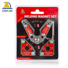 цена на LISHUAI (3Pcs/Pack)Multi-angle Welding Magnet + 20-200 Degree Adjustable Welding Clamp