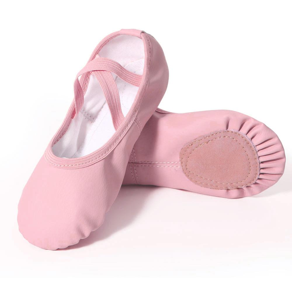 Pure Color Ballet Shoes For Girls Professional Kids Leather Dance Shoes High Quality Soft Ballerina Shoes Children