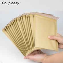Sac à bulles en papier Kraft, 50 pièces, sac de courrier rembourré, enveloppes à bulles en papier Kraft, livraison de courrier en mousse, 4 tailles, vente en gros
