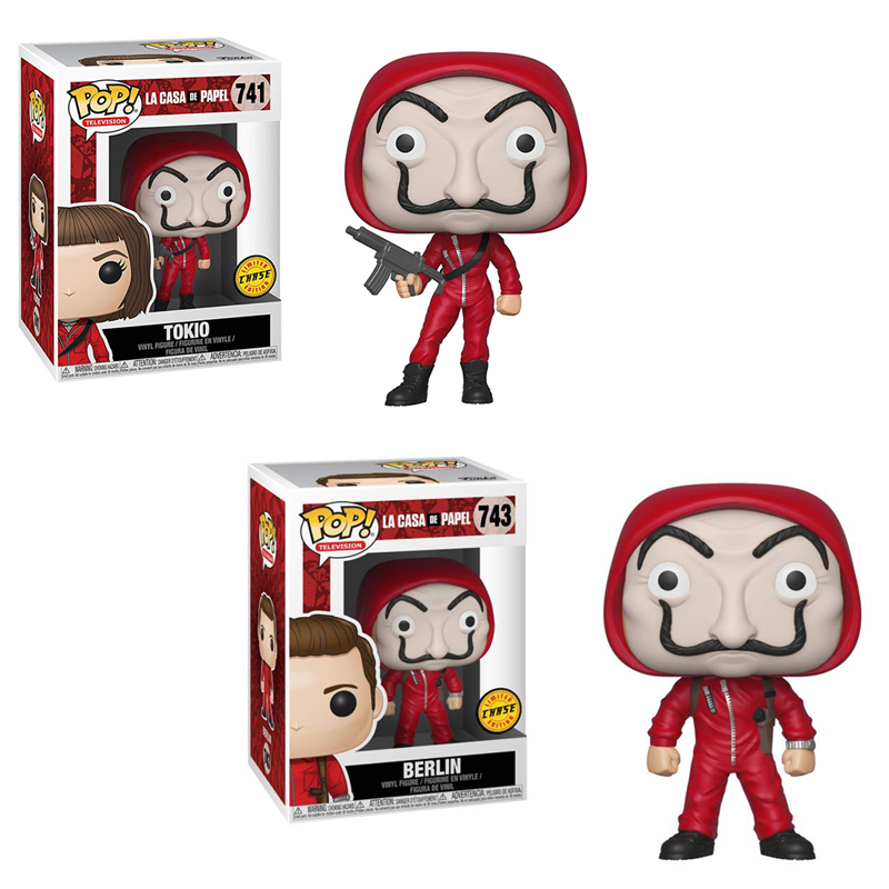 Funko pop <font><b>La</b></font> casa de papel Tokio Berlin Chase Vinyl <font><b>Doll</b></font> Action Figures Kids Birthday Gifts Collectible Model Toys for Fans image