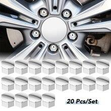 Partsdealers Lot de 20 cache-/écrous de roue pour Opel InSIGNIA 2010-2017 22 mm Gris alliage