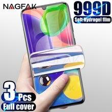 3Pcs Hidrogel Film Protector de Ecrã Para Samsung Galaxy A51 A70 A20 A30 S A40 A50 A71 A11 A21 A31 A41 M21 M51 M30 A10 Não Vidro