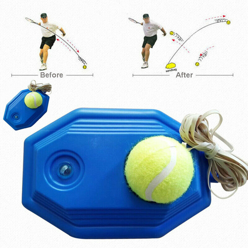 Solo Tennis Trainer Ball+base+elastic Rope Tennis Ball Training Practice Balls Trainer Back Base Tennis Self-study Tools