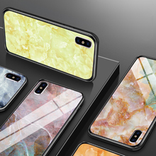 Colorful Marble Phone Cases for iPhone X XS MAX Fashion Tempered Glass Shockproof Coques 6 6S 7 8 PLUS 5 5S SE