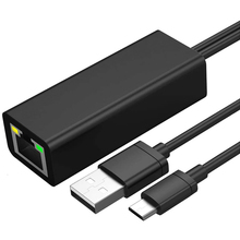 Ethernet Adapter for Fire Stick and Chromecast,Chromecast Ultra 4K,Micro-USB to LAN Rj45 with Power Supply Cable 3.3Ft
