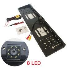 European license plate frame, LED8 light camera, European license plate frame with LED reversing camera