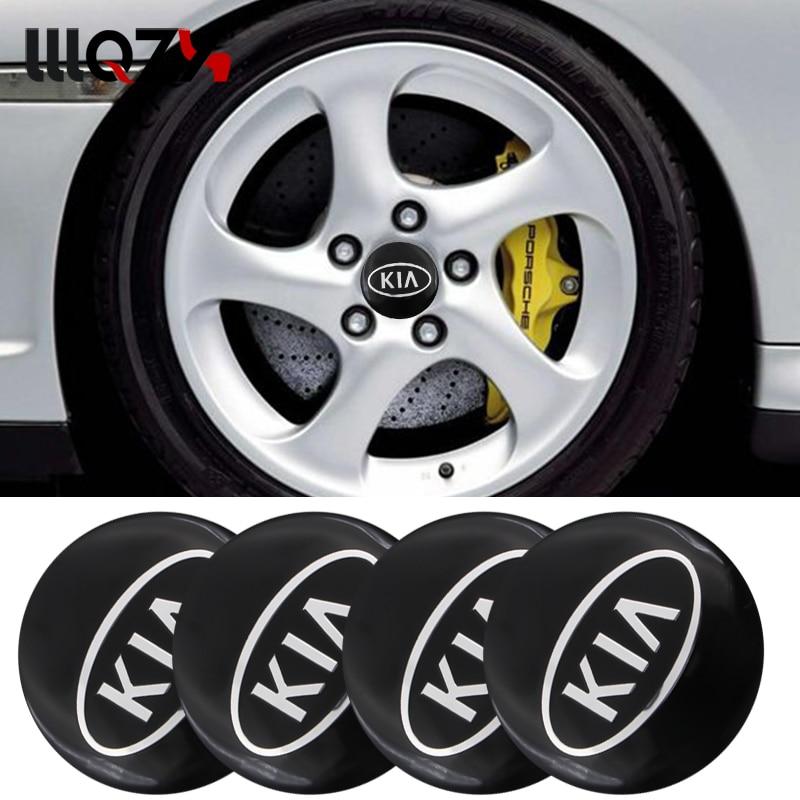 4pcs 56mm Car Tire Wheel Center Hub Caps Badge Sticker For KIA K2 K3 K4 K5 K6 Sorento Sportage R Rio Ceed Soul Auto Accessories
