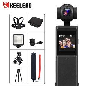 KEELEAD P6A 3-Axis 4K HD Pocket Handheld Gimbal Camera Stabilizer Built-in Wi-Fi Smart Track vlog pocket camera