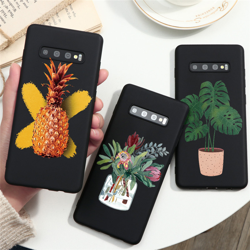 Potted Plants Flower For Samsung Galaxy A21S A11 A31 A41 A91 S8 S9 S10 S20 Ultra Plus A10 A20 A30 A40 A50 A70 A51 A71 TPU Case image