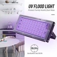 UV Desinfection Lampe FÜHRTE Uv Entkeimungslampe Sterilisator Licht 50W Scheinwerfer Lampe 220V Uv Flache Par Scheinwerfer-in UV-Lampen aus Licht & Beleuchtung bei