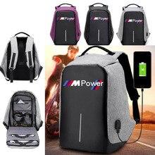 Противоугонная сумка для мужчин, ноутбук для bmw, мощный дорожный рюкзак, большая вместительность, бизнес USB зарядка, студенческие школьные с...