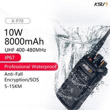 10w walkie talkie uhf rádio portátil walkie-talkie rádio transmissor de rádio woki toki rádio scanner walkietalkie ip67