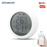 Tuya Zigbee датчик температуры и влажности с ЖК-дисплеем работает с Amazon Google Home Assistant