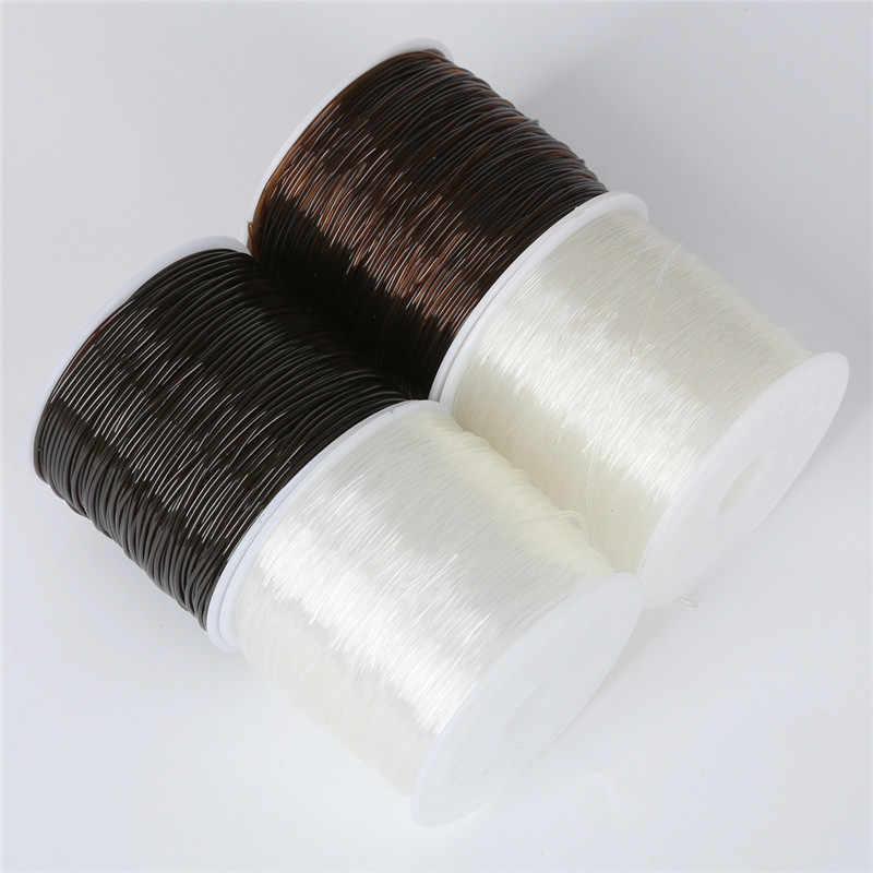 100 m/rolo de cristal plástico tec coreia diy beading cabos de estiramento linha elástica jóias que faz a fonte fio corda jeweleri thread