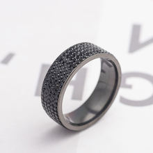 2020 new popular ring 5-row diamond stainless steel fashion titanium couple jewelry