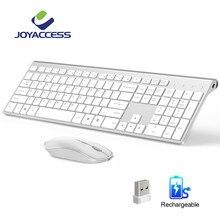 Mouse recarregável sem fio com 106 teclas, mouse coreano/francês/alemão/inglês/italiano/espanhol conjunto de