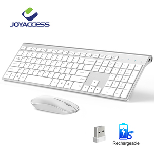 Rechargeable 106 Keycaps Wireless Keyboard and Mouse Korean/French/German/English/Italian/Spanish Keyboard Mouse Set(China)