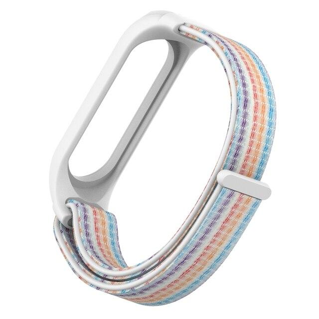 Replaceable Nylon Bracelet For Xiaomi Mi Band 3 4 Strap Nylon silicone Sport Wristband For Mi band 3 Band 4 Smart Watch Strap 5