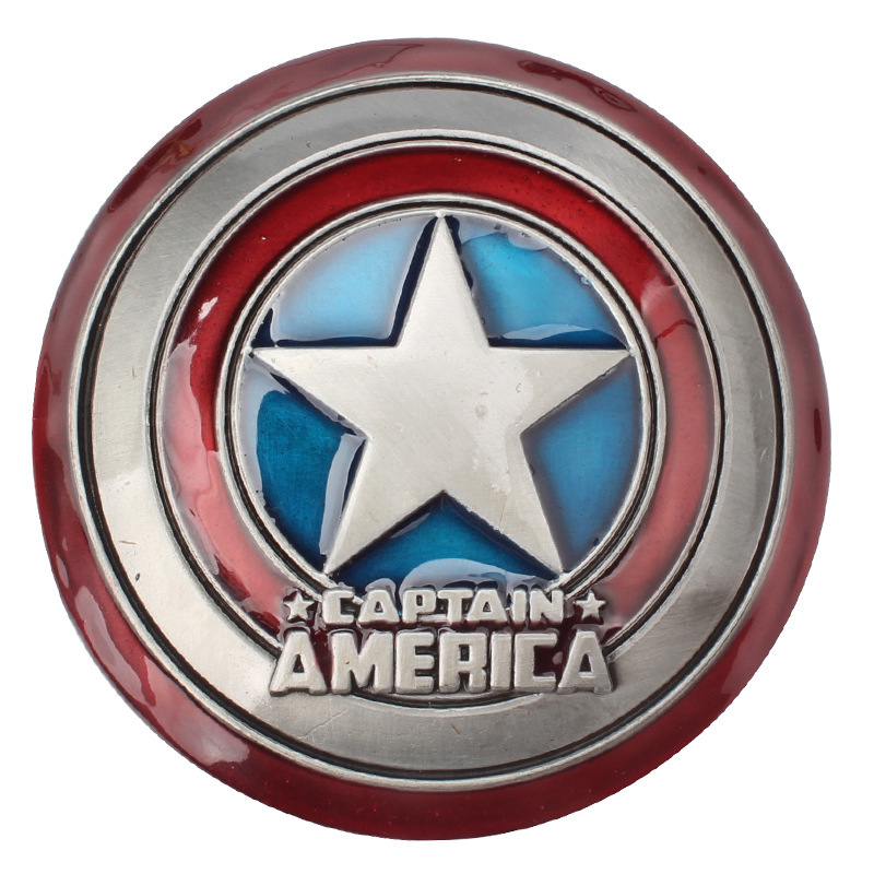 Marvel Comics CAPTAIN AMERICA Shield Belt Buckle Western Cowboy Men's Clothing Accessories Fashion Jeans Buckle For Boys Men