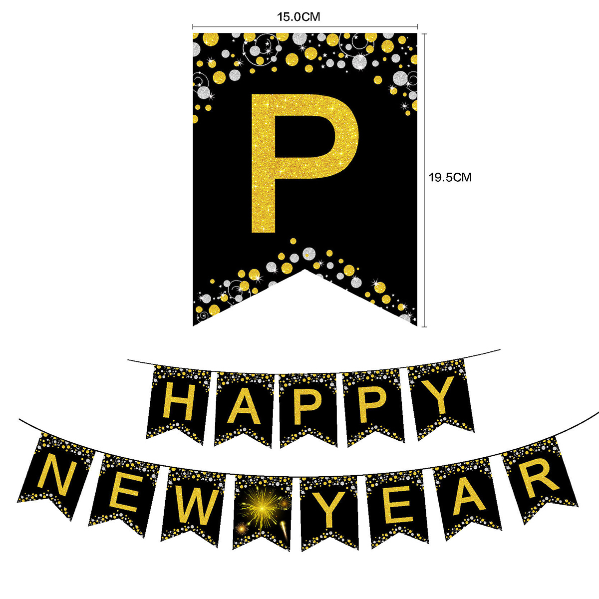 NYE 2019 Party Banners Happy New Year Party Celebration Banners Decorations