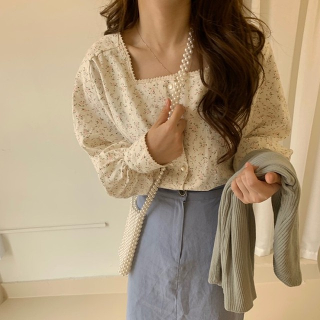 Joinyouth Square Collar Women Tops and Blouses Fashion Vintage Chic Chiffon Blusas Mujer 2020 Button Sweet Shirts New J482 2