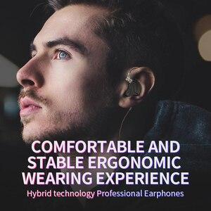Image 5 - Kz Zsn Pro w uchu Monitor słuchawki metalowe słuchawki technologia hybrydowa słuchawki douszne Hifi Bass Sport zestaw słuchawkowy z redukcją szumów 2 Pin