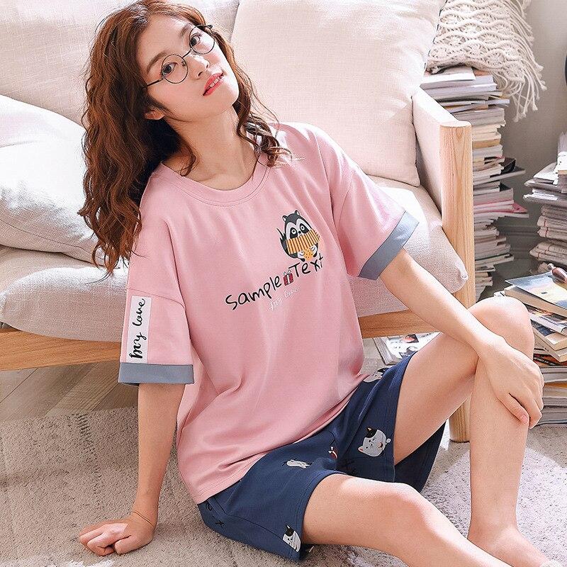 Feier Summer Knitted Print Pajama Sets Men's Sleep&Lounge Pijama hombre Pyjamas Mens Pajama Sleepwear Couple Nightwear Homewear