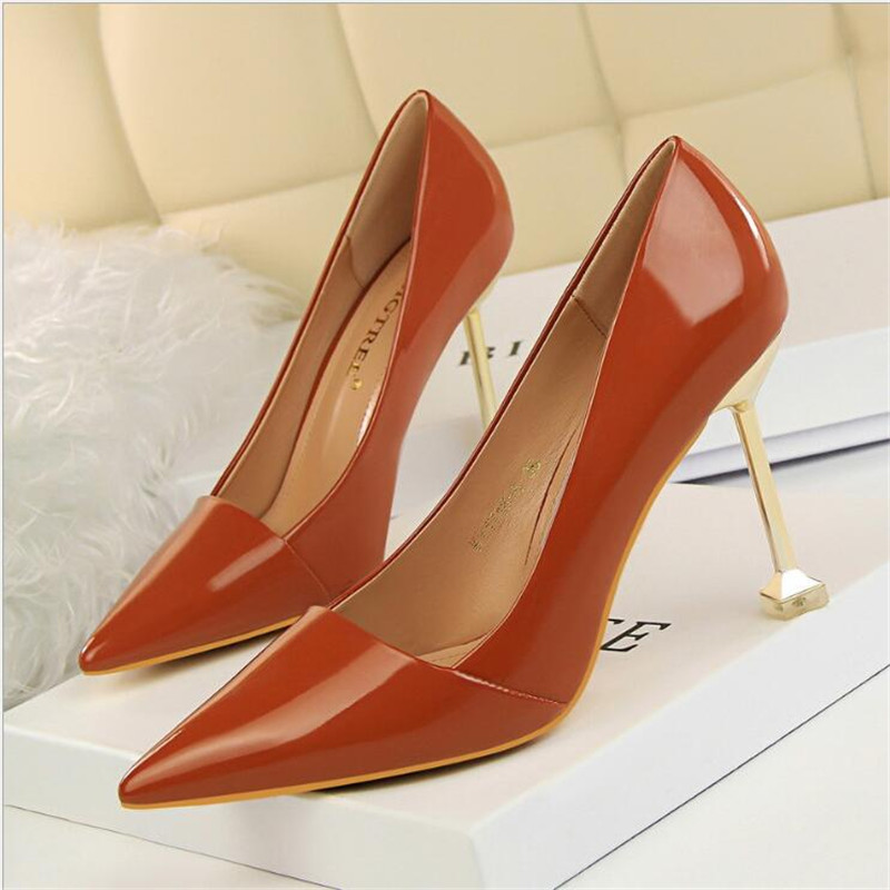 High heels office work shoes women stiletto escarpins <font><b>sexy</b></font> <font><b>hauts</b></font> hells career shallow <font><b>chaussure</b></font> femme <font><b>talon</b></font> concise pumps image