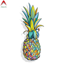 Aliauto Colorful Pineapple Car Sticker Automobiles Motorcycles Window Bumper Laptop Truck Cooler Waterproof Vinyl Decal,13cm*5cm(China)