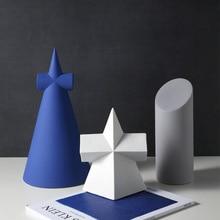 Nordic ins ceramic ornaments geometric living room porch creative minimalist model room art furnishings home decorations