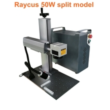 High accuracy 20W 30W split model fiber laser marking machine metal used for stainless steel copper etc