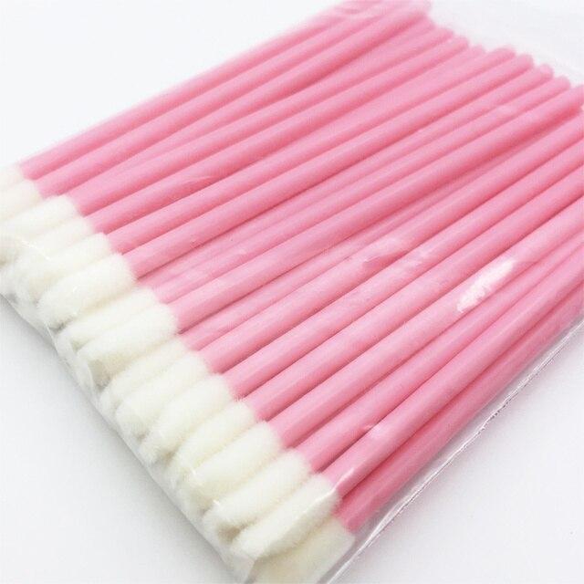 1000Pcs Disposable Makeup Lip Brush Lipstick Lip Gloss Wands Pen Lip Cleaner Applicator Eyeshadow Lip Gloss Make up Tools Hot 2