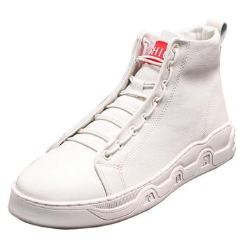 Winter Shoes Warm Men Boots Genuine Leather Plus Fur Men Snow Boots Handmade Waterproof Fashion Ankle Boots Top Casual Men Shoes