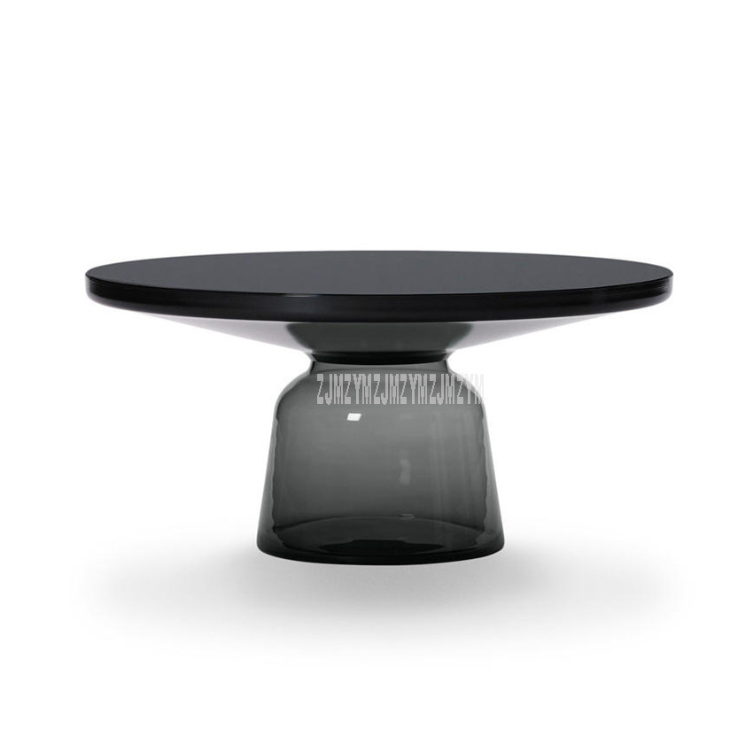 75cm Nordic Luxury Glass Tea Table Creativity Translucent Glass Bottle Leg Design Living Room Modern Round Tea Coffee Table L Special Promo C6764b Cicig