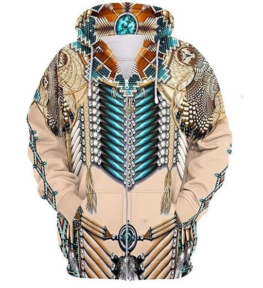 Tribal 3D Print Hoodie 2
