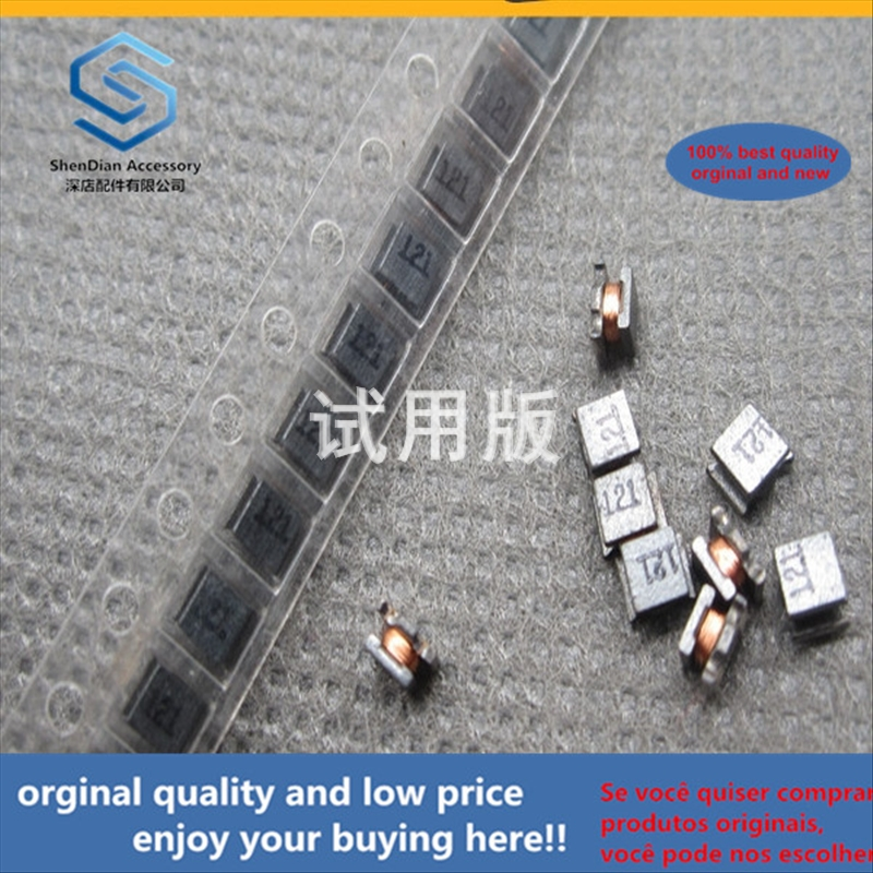 50pcs 100% Orginal New Best Quality Wire Wound Inductor 1210 120uH 5% NLV32T-121J-PF Plastic Package Inductor Silk Screen: 121