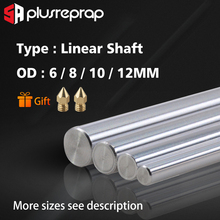 Liner Rail OD 6/8/10/12mm Linear Shaft Lenght 200 250 300 320 339 350 370 400 500 mm for 3D Printer X Y Z axis CNC Parts 1pc od 16mm x 1000mm cylinder liner rail linear shaft optical axis