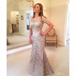 Plus Größe 2019 Mutter Der Braut Kleider Meerjungfrau Cap Sleeves Blumen Perlen Lange Bräutigam Mutter Kleider Für Hochzeiten
