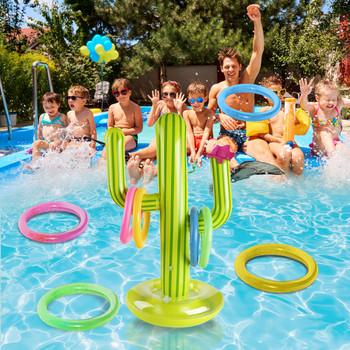 Odkryty basen nowy PVC nadmuchiwany kaktus pierścień Toss zestaw gier pływające zabawki do basenu impreza na plaży dostarcza Party Ice Bar Travel tanie i dobre opinie CN (pochodzenie) 8 ~ 13 Lat 14 lat i więcej 2-4 lata 5-7 lat STARSZE DZIECI Sport 21312