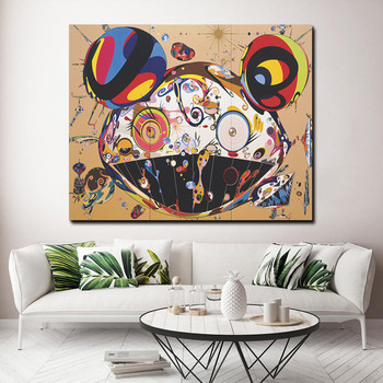 Modern Takashis Murakami Canvas Painting Wall Art Pictures Tan Tan Bo Puking for Living   Room Home Decoration Poster and Print 2