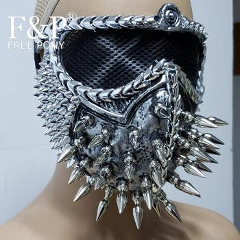 Костюм горящего человека, маска в стиле стимпанк, карнавальный костюм, аксессуары для Хэллоуина