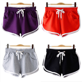 2020summer New Loose Casual Home Candy Color Shorts Women 's Cotton Solid Pockets Mid Drawstring Sexy Shorts Casual Female casual women s satchel with zips and solid color design