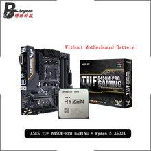 AMD Ryzen 5 3500X R5 3500X CPU + Asus TUF B450M PRO oyun anakart takım soket AM4 CPU + anakart takım elbise olmadan soğutucu