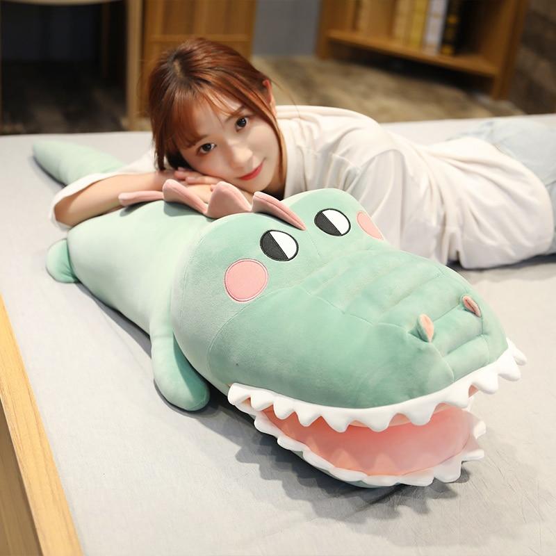 Alligator Plush Toys Cute Doll Stuffed Animals Crocodile Pillow Soft Sleeping Cushion Valentines Day Gifts For Kids Girls Just6F