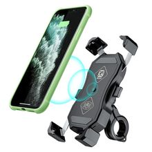 12V Motorcycle QC3.0 USB Qi Wireless Charger Mount Holder St