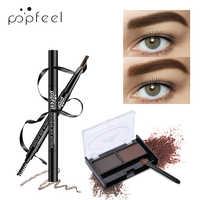 POPFEEL 5 Farbe Farbton Auto Natürliche Augenbraue Bleistift Augenbrauen + Augenbraue Pulver Wasserdicht Langlebig Eye Make-Up Stirn Shades Make-Up