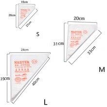 100/50/20 sacos descartáveis da confeitaria do tamanho do saco s/m/l dos pces para o fondant do bolo que decora ferramentas tubulares do saco do cozimento da cozinha