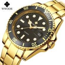Wwoor мужские спортивные часы от известного бренда роскошные