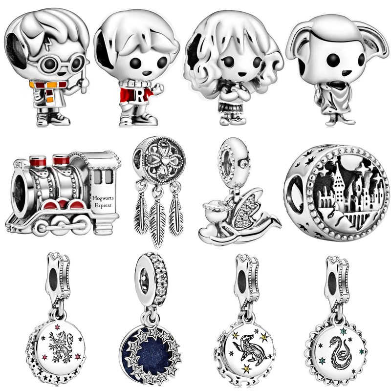 925 Silver New Original Harry Charms Beads Pendant Fit Pandora Bracelets & Necklace For Women DIY Lovers Jeweley